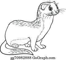 Weasel Clip Art.