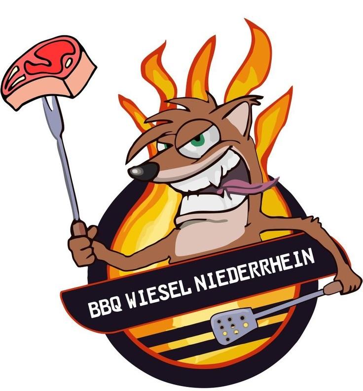 BBQ Team Logo Wiesel Niederrhein.