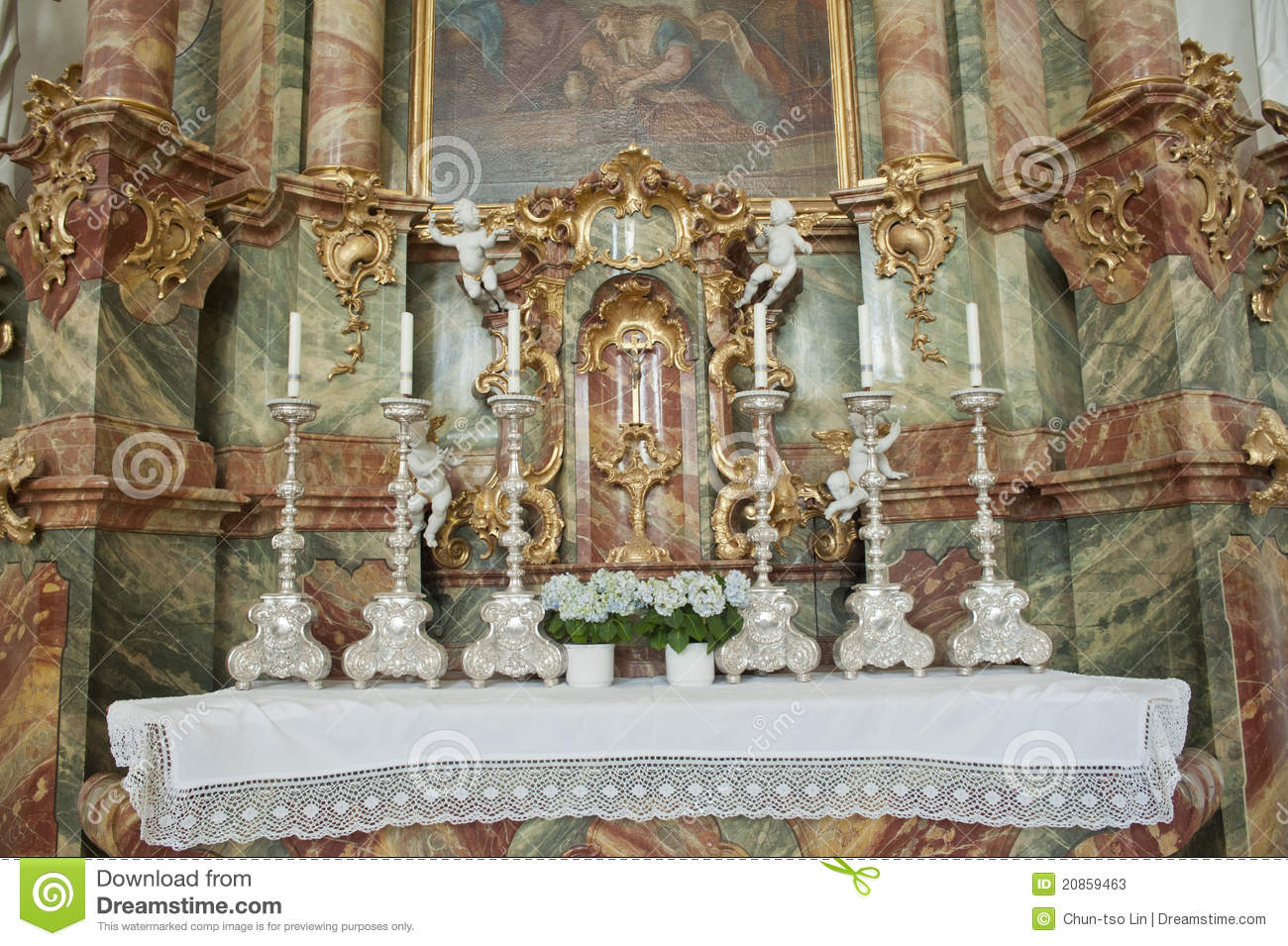 Wieskirche Church In Germany,Europe. Stock Photos.