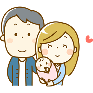 Family with baby clipart, cliparts of Family with baby free.