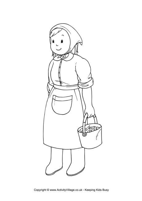 Village Farmer Clipart.