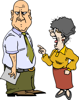 Angry Wife Clipart.