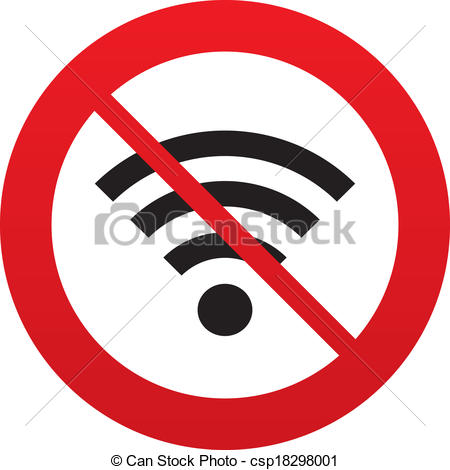 Prohibition wifi Clipart Vector and Illustration. 172 Prohibition.