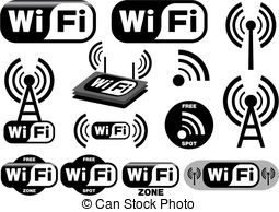 Wifi Clip Art Vector and Illustration. 32,345 Wifi clipart vector.