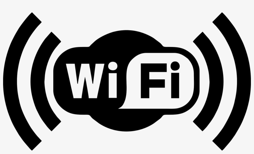 Logo Wifi Png Png Black And White Stock.