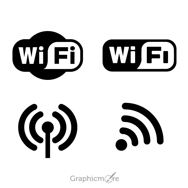 Wifi Logo Icons Set Design Free Vector File Download by.