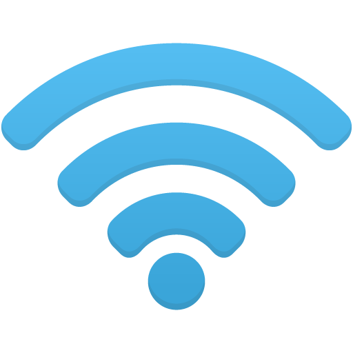 Wifi Icon Blue PNG Image.