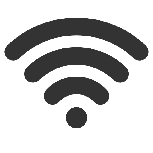 Wifi Icon Black PNG Image.