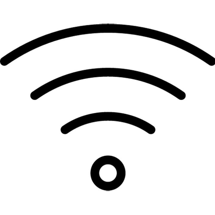 Black Wifi Logo Transparent Background PNG.