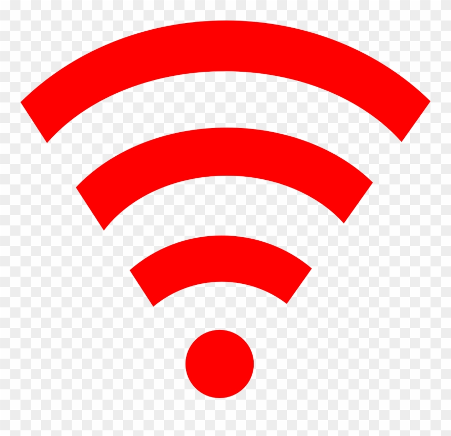 Red Wifi Link Clip Art.