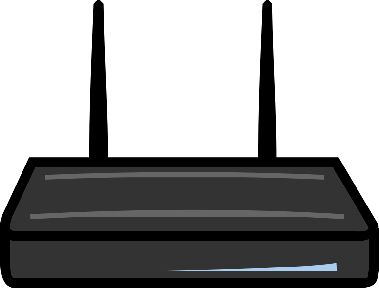 Image for wireless router computer clip art.