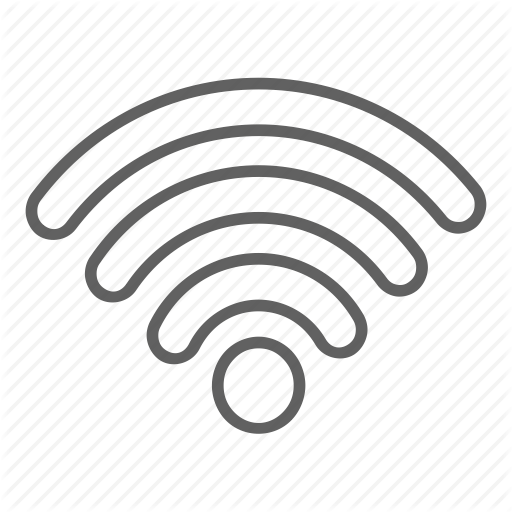 White Wifi Icon #202090.
