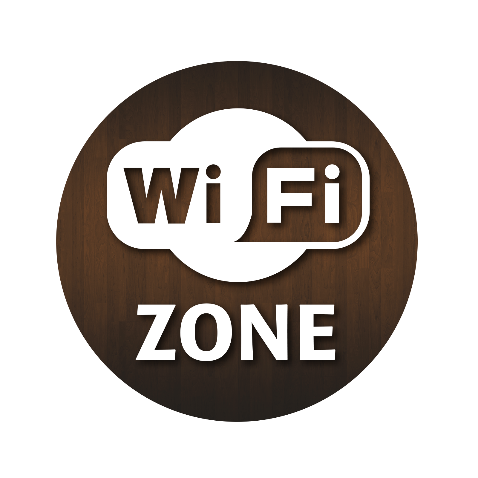 Wifi Zone Window Sticker.