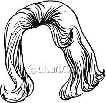 Wig clipart black and white 1 » Clipart Portal.