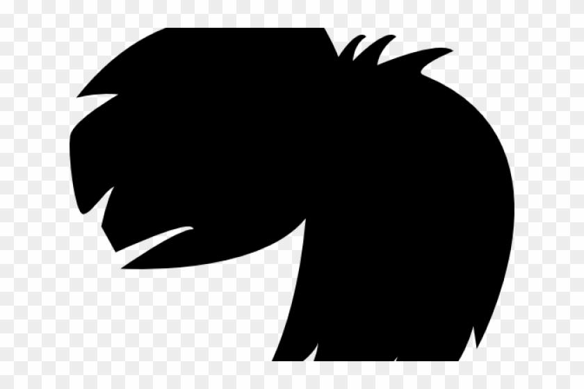 Dark Hair Clipart Black Wig.