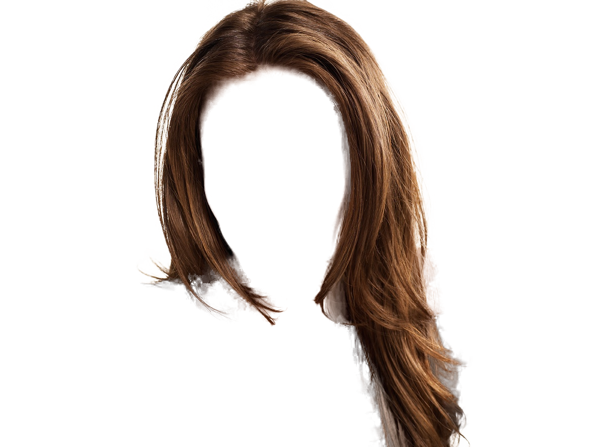 Hair color clipart with transparent background.