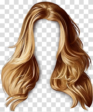 Hair, brown wig transparent background PNG clipart.