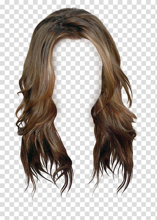 Brown wig, Brown hair Wig Long hair, wig transparent.