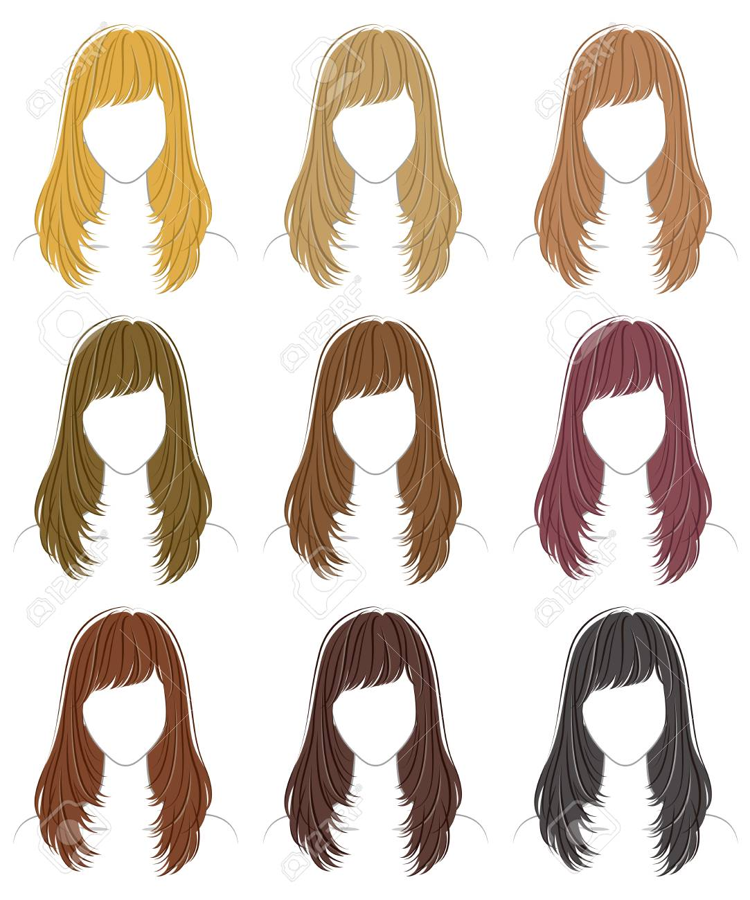 Wig Cliparts Coloring Free Download Clip Art.