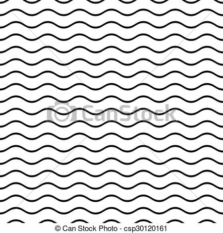 Clip Art Vector of Seamless wavy line pattern.