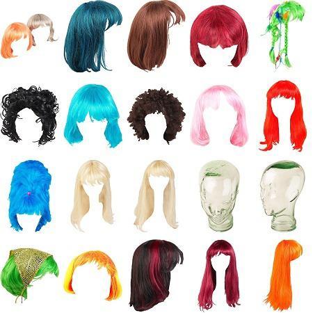 Wigs Clipart.