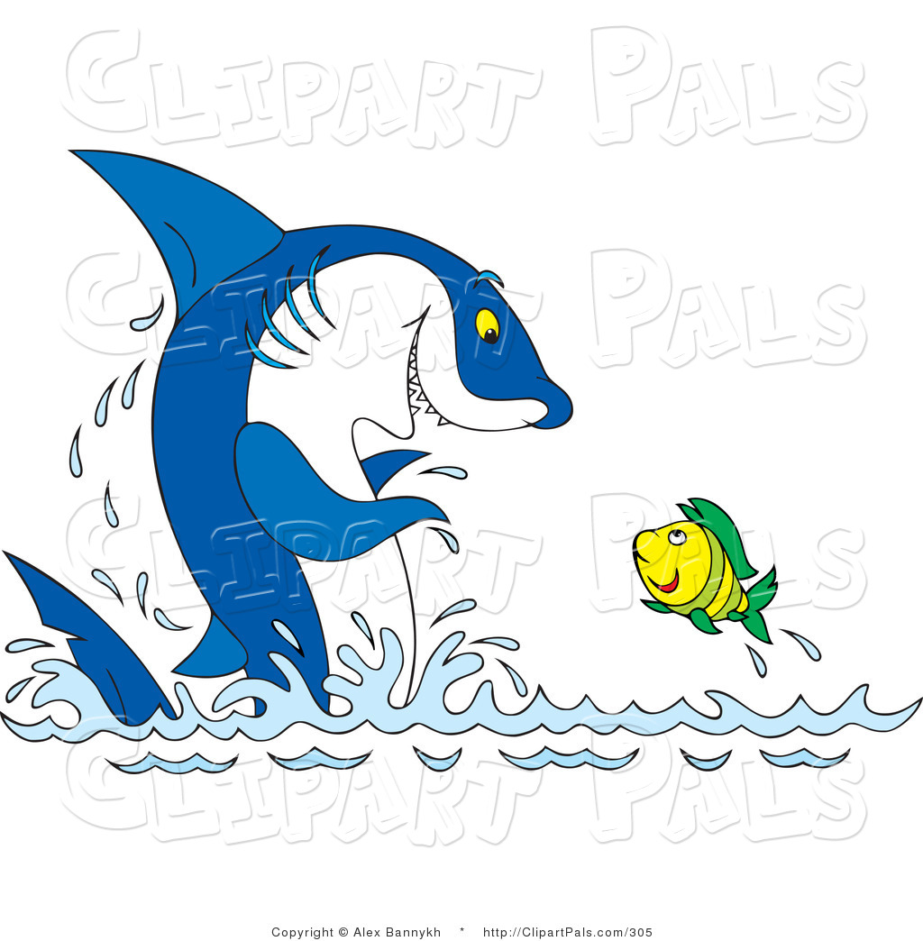 Water Wih Fish Clipart.