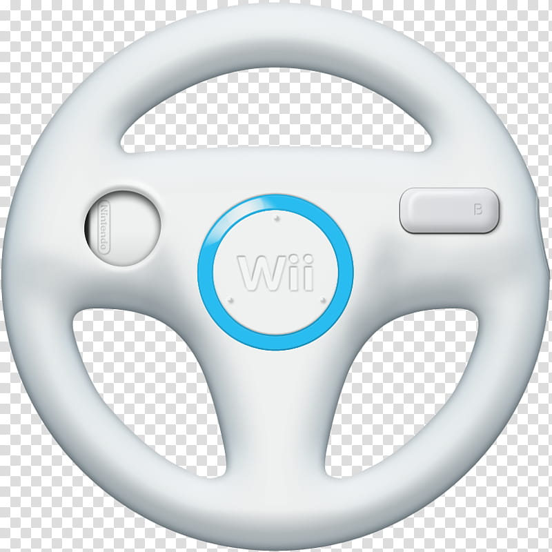 Wii Wheels v , white Nintendo Wii game wheel controller.