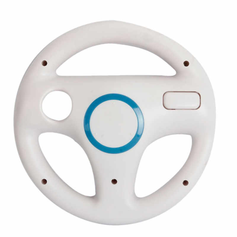 Hot White Plastic Steering Wheel For Wii Mario Kart Racing.