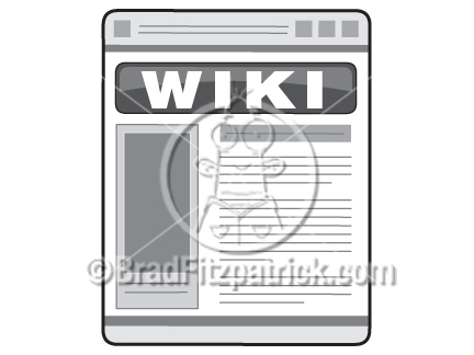 Cartoon Wiki Clip Art.