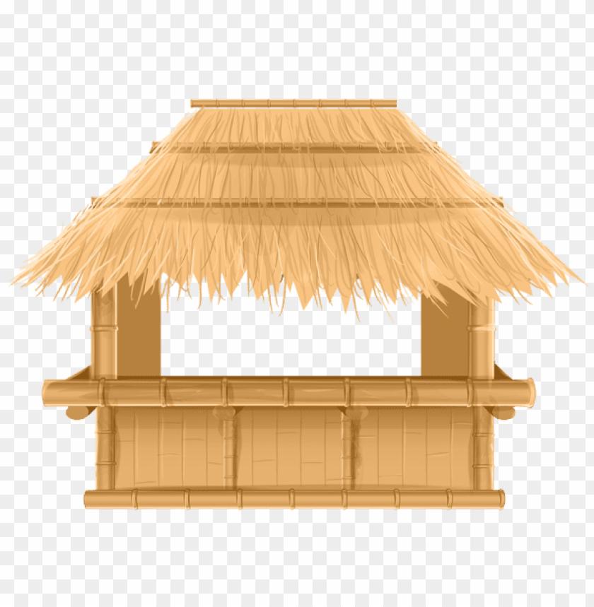 Download bamboo beach tiki bar png.