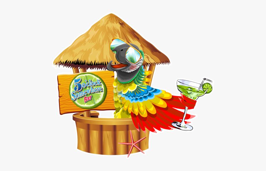 Beach Background Tiki Bar , Transparent Cartoon, Free.