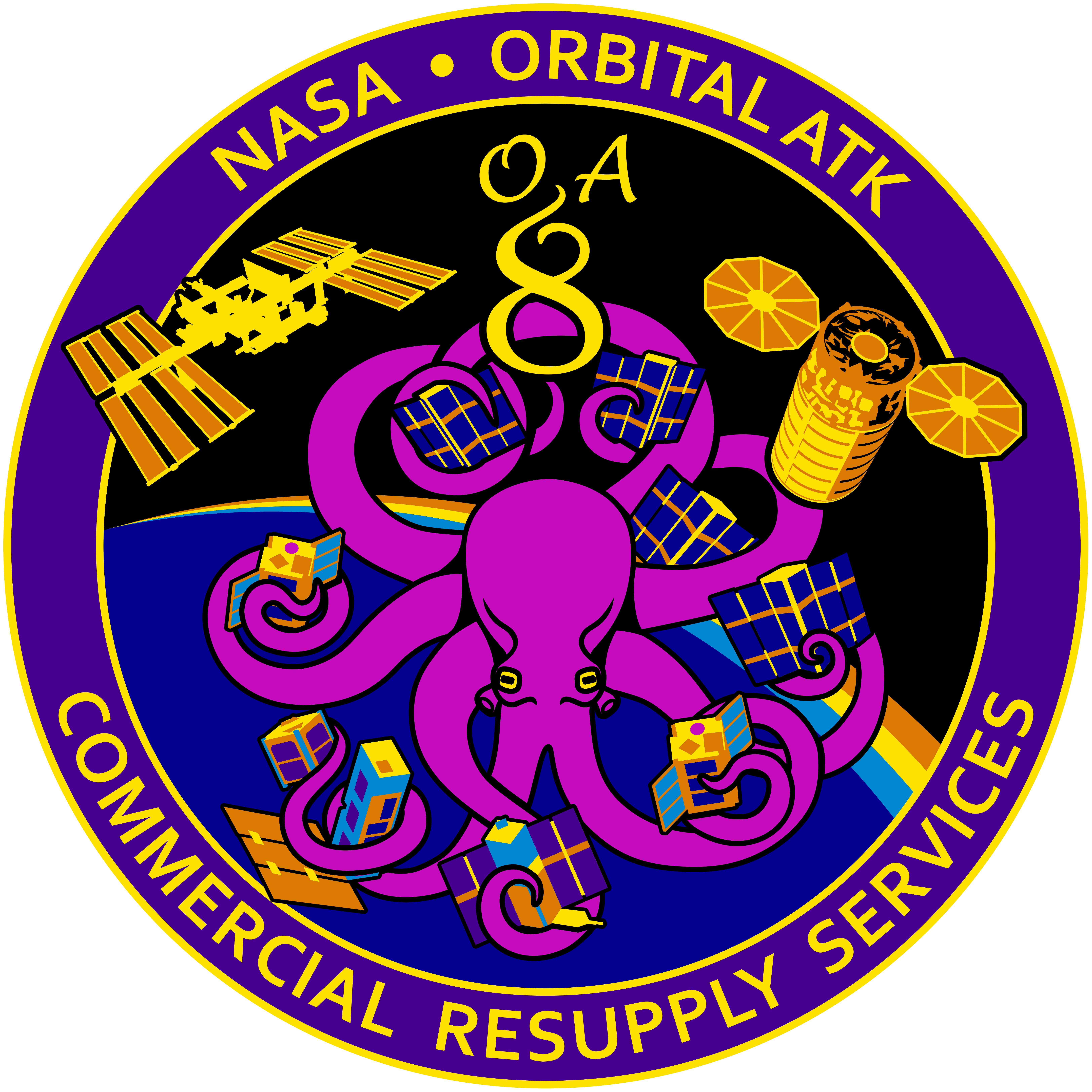 File:Orbital Sciences CRS Flight 8E Patch.png.