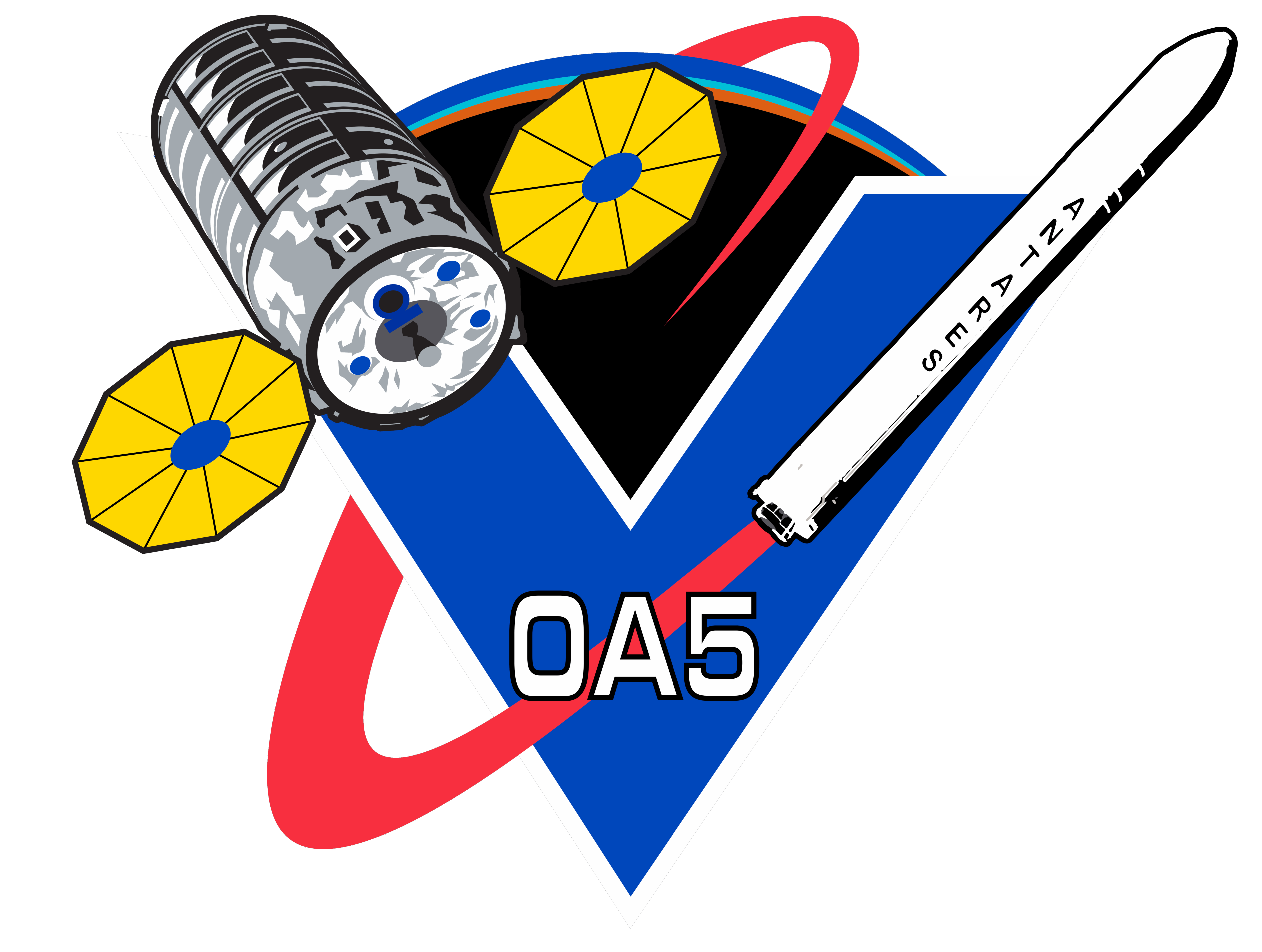 File:Orbital Sciences CRS Flight 5 Patch.png.