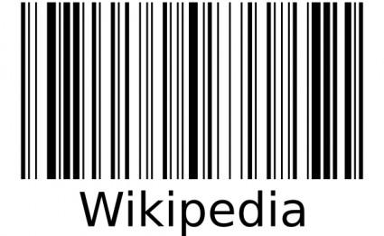 Wikipedia Barcode clip art.