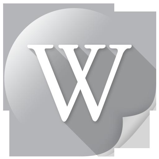 Mirror, wiki, wikipedia icon.