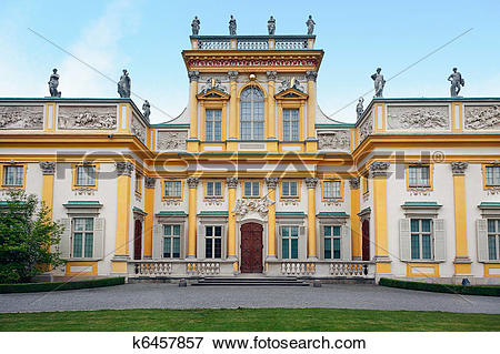 Picture of Wilanow Palace in Warsaw k6457857.