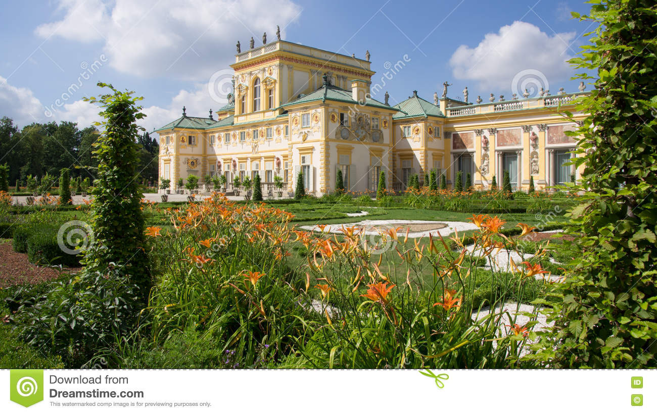 Wilanow Palace Museum In Warsaw Stock Photo.