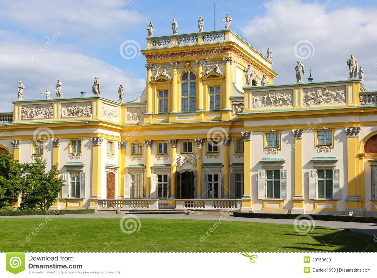 Wilanow Palace & Gardens. Warsaw. Poland. Royalty Free Stock.