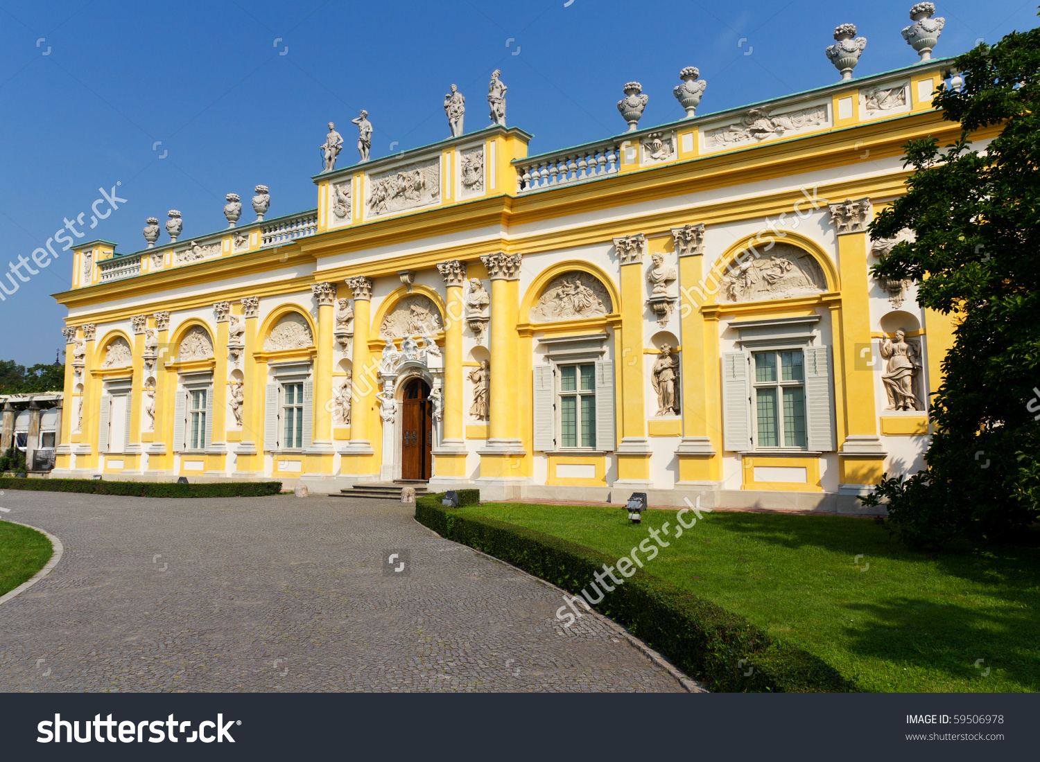 Wilanow Palace In Warsaw, Capital Of Poland Stock Photo 59506978.