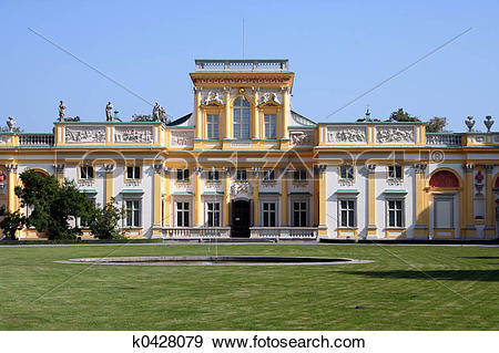 Stock Photograph of Wilanow Palace 3 k0428079.