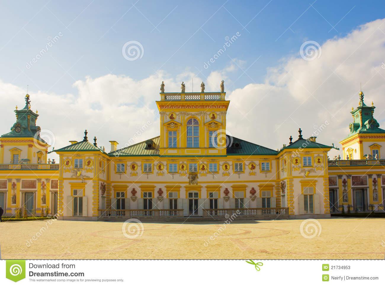 Wilanow Palace, Warsaw, Poland Stock Photos.