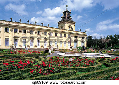 Stock Photograph of Wilanow Palace and Park (Baroque Architecture.