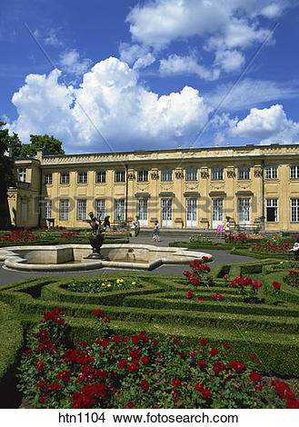 Stock Photo of Wilanow Palace, Warsaw, Poland htn1104.