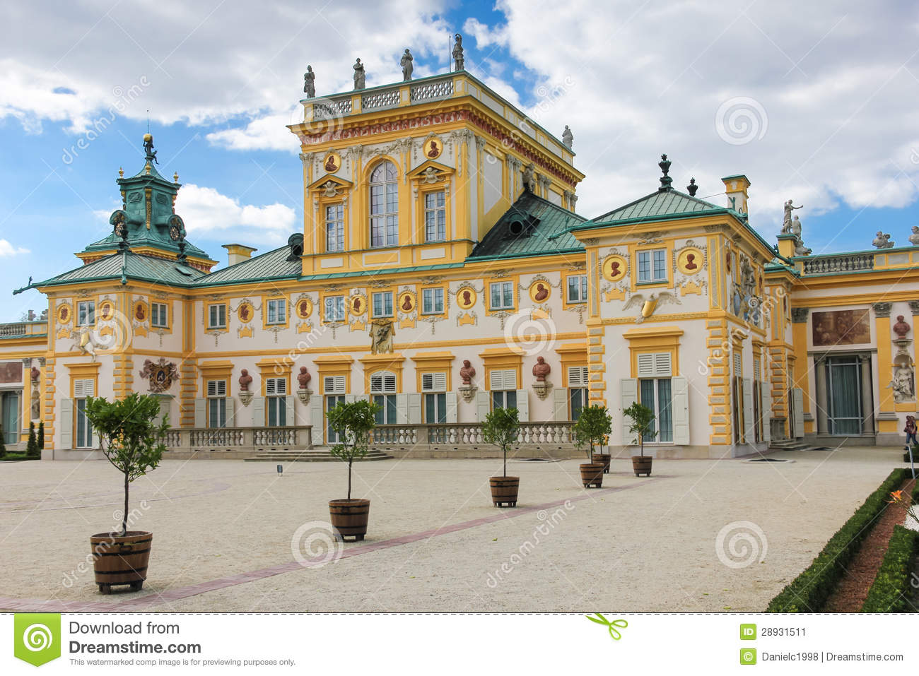 Wilanow Palace & Gardens. Warsaw. Poland. Stock Image.