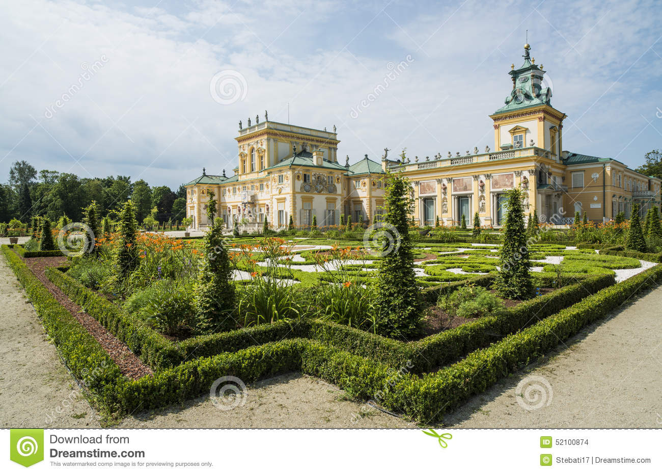 Wilanow Palace Warsaw Poland Europe Editorial Stock Image.