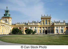 Picture of Wilanow Palace in Warsaw.