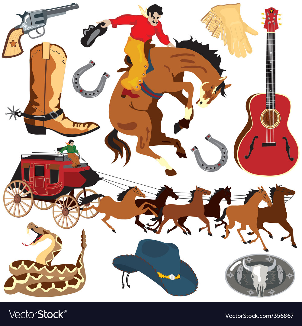 Wild west clipart icons.