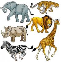 Free clipart wild animals.