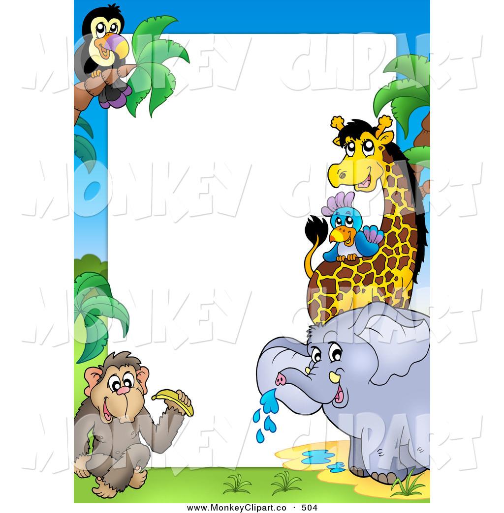 Royalty Free Stock Monkey Designs of Wild Animals.