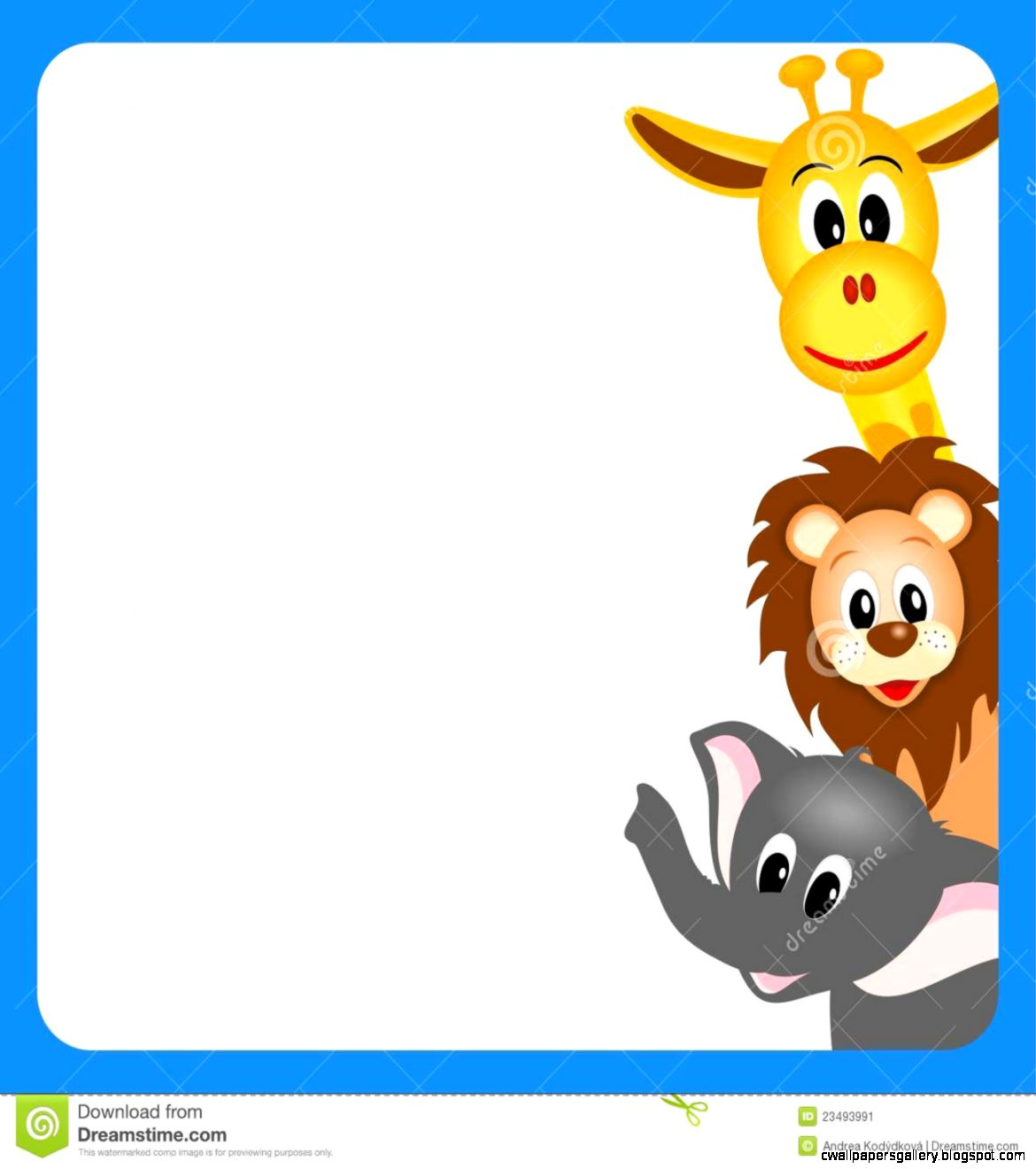 Animal Borders Clip Art (40+).